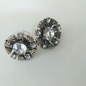 Betsey Johnson statement rhinestone earrings